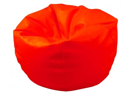 Sedací vak z koženky-červený-pr.80cm-koule