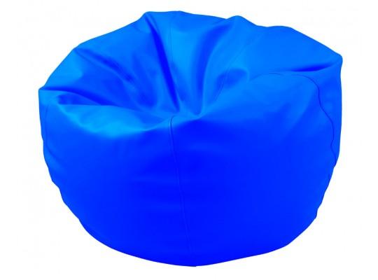 Sedací vak z koženky-modrý světlý-pr.80cm-koule