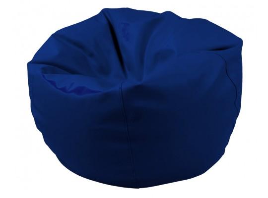 Sedací vak z koženky-modrý tmavý-pr.80cm-koule