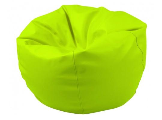 Sedací vak z koženky-zelený světlý-pr.80cm-koule