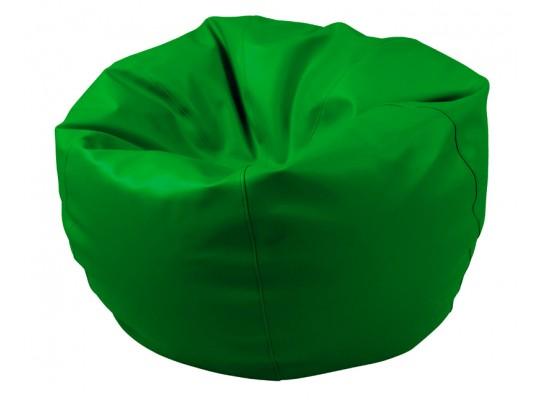 Sedací vak z koženky-zelený tmavý-pr.80cm-koule