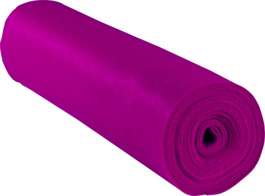 Filc v roli-růžový-1mm/500x45cm
