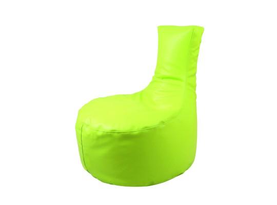 Sedák s opěrkou-světle zelený