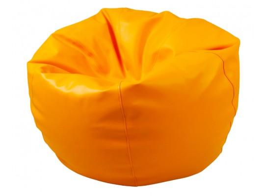 Sedací vak z koženky-oranžový-pr.80cm-koule