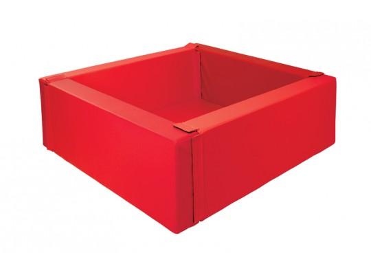Bazén z PUR pěny-čtverec-červený-malý