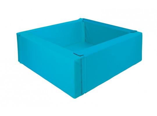 Bazén z PUR pěny-čtverec malý-modrý světlý-150x150x40