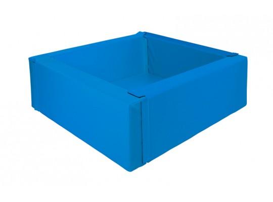 Bazén z PUR pěny-čtverec malý-modrý tmavý-150x150x40