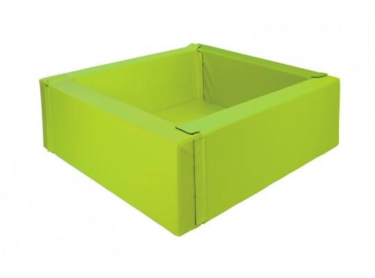 Bazén z PUR pěny-čtverec malý-zelený světlý-150x150x40