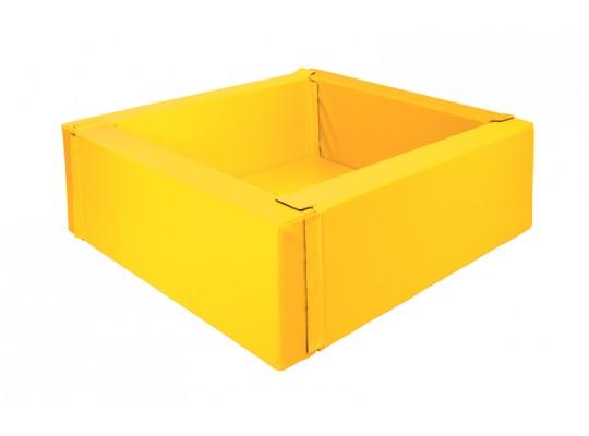 Bazén z PUR pěny-čtverec malý-žlutý-150x150x40