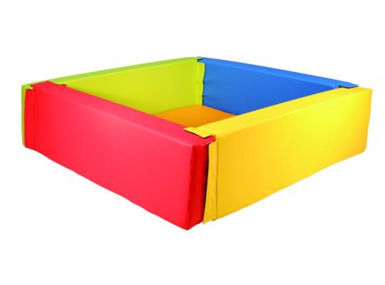 Bazén z PUR pěny-čtverec velký-barevný-205x205x40cm