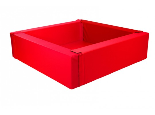 Bazén z PUR pěny-čtverec velký-červený-205x205x40cm