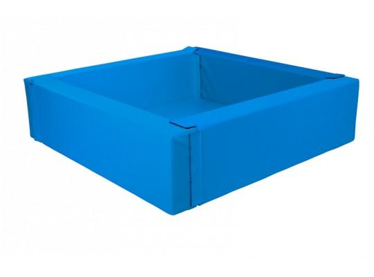Bazén z PUR pěny-čtverec velký-modrý tmavý-205x205x40cm