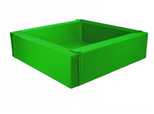 Bazén z PUR pěny-čtverec velký-zelený tmavý-205x205x40cm