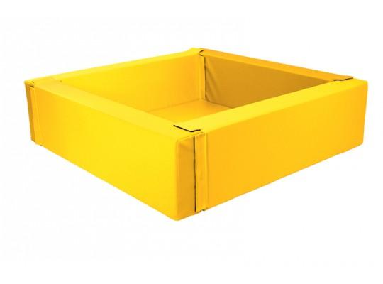 Bazén z PUR pěny-čtverec velký-žlutý-205x205x40cm
