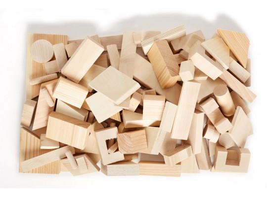 Tvary dřevěné na tvoření_přírodní_3kg