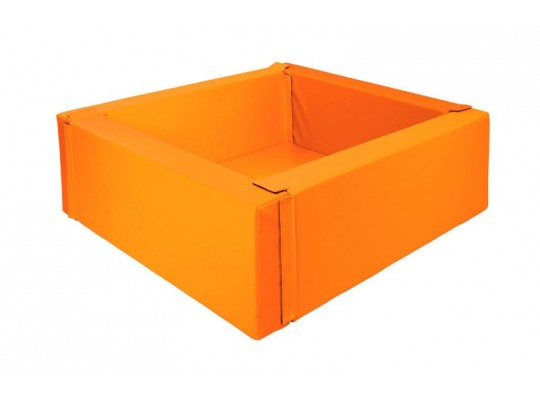 Bazén z PUR pěny-čtverec malý-oranžový-150x150x40
