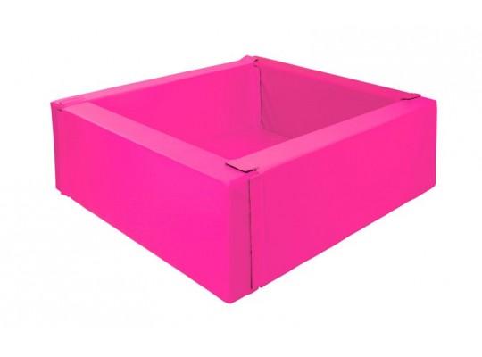 Bazén z PUR pěny-čtverec malý-růžový-150x150x40