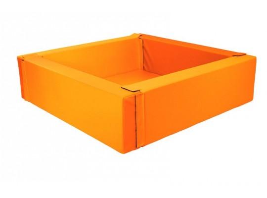 Bazén z PUR pěny-čtverec velký-oranžový-205x205x40cm