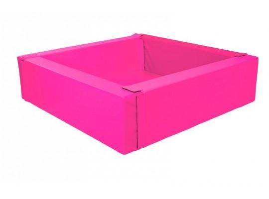 Bazén z PUR pěny-čtverec velký-růžový-205x205x40cm