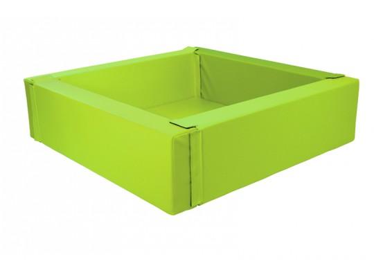 Bazén z PUR pěny-čtverec velký-zelený světlý-205x205x40cm