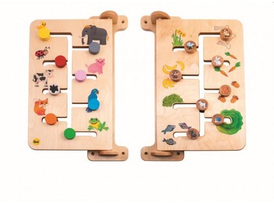 Labyrint nástěnný dřevěný-zvířata