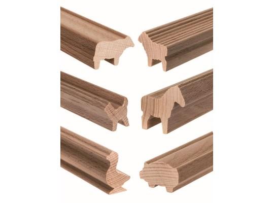 Lišta profilová dřevěná-d45cm-zvíře domácí