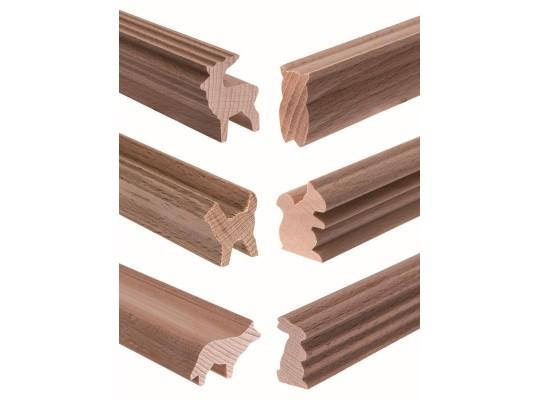 Lišta profilová dřevěná-d45cm-zvíře lesní