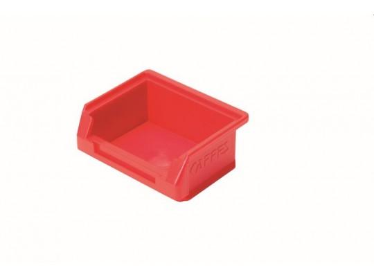 Box úložný plastový-8,5x10,5x4,5cm-červený