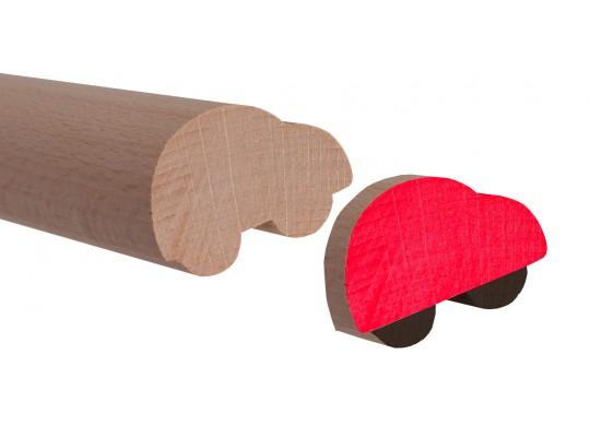 Lišta profilová dřevěná-d45cm-auto