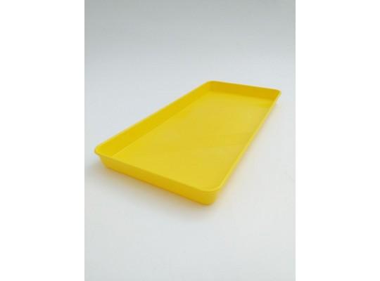 Tácek/podnos plastový-malý-25x12cm-žlutý