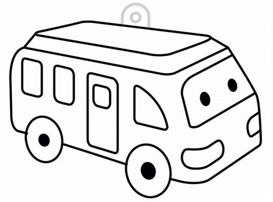 Sklíčko závěsné-kontura-autobus