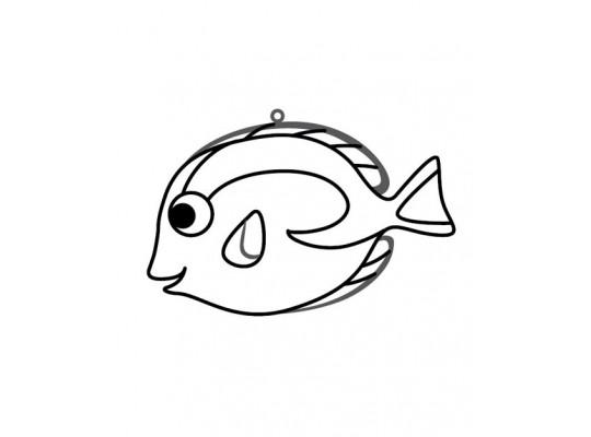 """Sklíčko závěsné-kontura-ryba mořská """"Dory"""""""