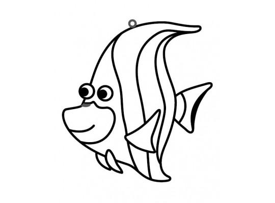 """Sklíčko závěsné-kontura-ryba """"Skalár"""""""