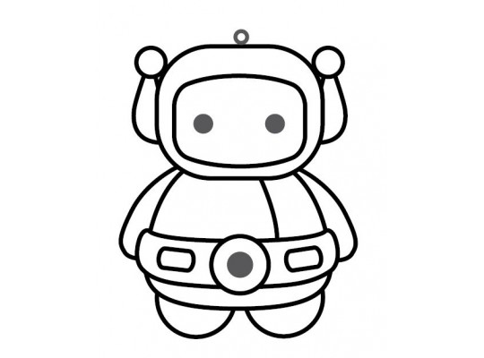 Sklíčko závěsné-kontura-robot 1