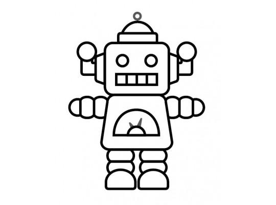 Sklíčko závěsné-kontura-robot 2