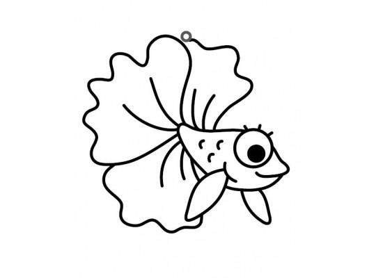"""Sklíčko závěsné-kontura-ryba """"Beta"""""""