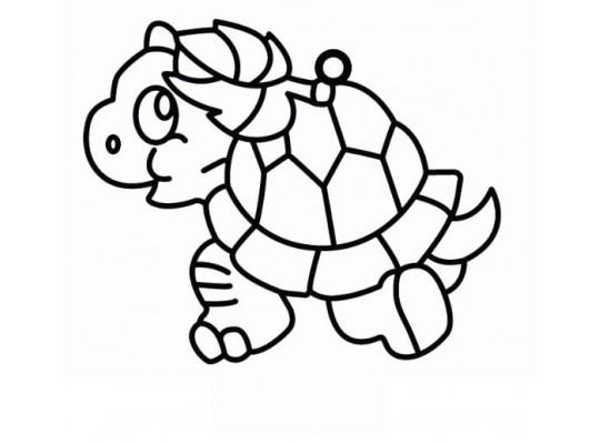 Sklíčko závěsné-kontura-želva