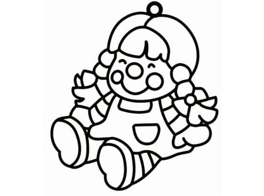 Sklíčko závěsné-kontura-panenka