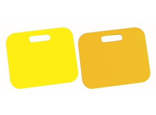 Podsedák pěnový s rukojetí-34x28x1cm-žlutý