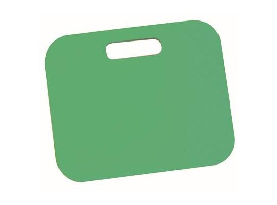 Podsedák pěnový s rukojetí-34x28x1cm-zelený tmavý