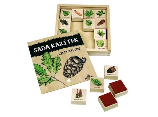 Razítka dřevěná-Listy a plody