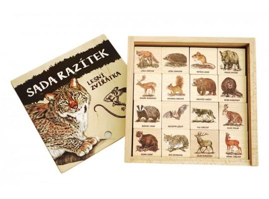Razítka dřevěná-Zvířata lesní