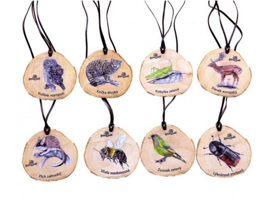 Medaile dřevěná-letokruh-zvířátko