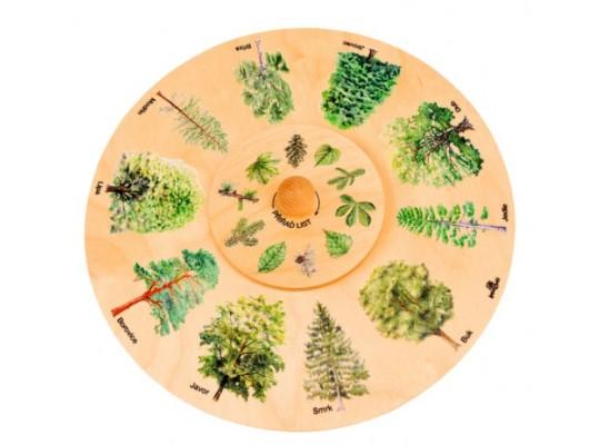 Kolo dřevěné naučné/edukativní-otočné-Plody