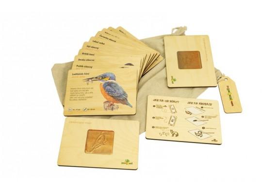 Sada frotážová dřevěná-naučná/edukativní-Ptáci