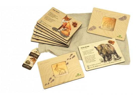 Sada frotážová dřevěná-naučná/edukativní-Zvířata