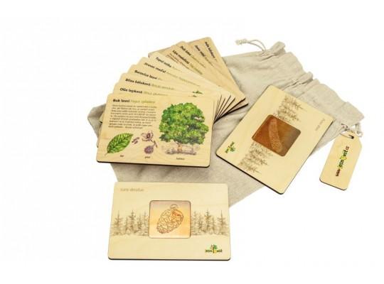 Sada frotážová dřevěná-naučná/edukativní-Stromy