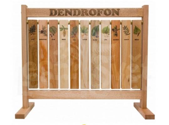 Prvek edukativní-Tabule naučná/informační-dřevěná-stolní-Dendrofon-zvuk dřeva