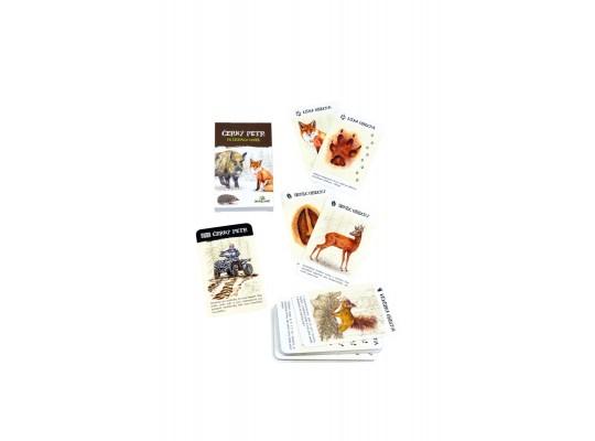 Karty hrací-Černý Petr-Stopy zvířat