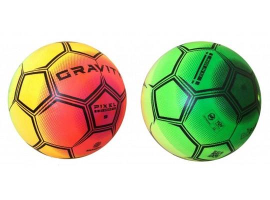 Míč gumový duhový - fotbal